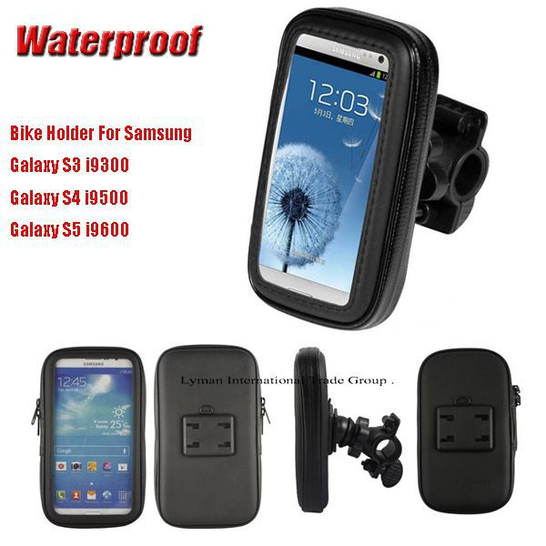 Universal 360 degree waterproof rotatable bicycle bike mobile phone stand holder for Samsung Galaxy S3 i9300 S4 i9500 S5 i9600(China (Mainland))