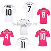 James Rodriguez Real Madrid Jersey 2015 Pink Black Bale Cristiano Ronaldo KROOS Real Madrid Soccer Jerseys 14 15 Football Shirts