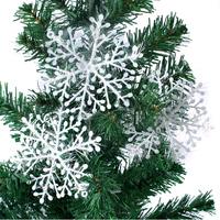 90pcs/lot,christmas decoration,new year supplies,White Plastic Christmas Snowflake for Christmas Tree/Window/Showcase Decoration
