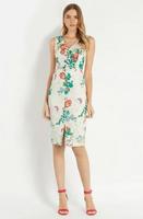 2014 Women Vintage V-Neck Floral Print Sleeveless Vest Slim Dress Party Gown