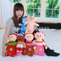 Hot sale children toys in the night garden plush dolls plush toys Daisy/Tombliboos /Igglepiggle/Makka Pakka  38CM 6PCS /LOT