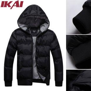 SMK011-5 Winter Jackets Black Big Size Hooded