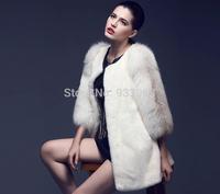 2015 New winter/autumn fox fur coat luxury rabbit fur wool waistcoat cape Mink imitation fur coat Women Gauri luxury atmosphere