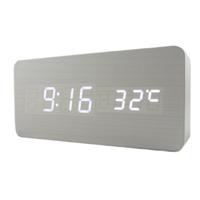 LED Display Digital Alarm Clock,Big Number Alarm Clock Temperature Sounds Control Activated ,Home Decor Luminova Table Clocks
