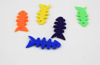 150 pcs /lot MP3 MP4 and Mobile phone fish bone Creative  Colorful ear cable tidy kit Winder Lovely design Free Shipping