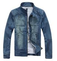 2014 Spring Autumn Men's Denim Jackets Jeans Jacket Men Winter Casual Outdoor Youth Street Fashion Man Slim Fit Coat 100% Cotton