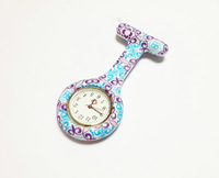 Hot Selling Nurse Doctor Watch Elegent Flower Print Pocket Watches PIN Medical Watch Best Gift 2014 New Fashion