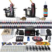Complete Tattoo Kit 2 Pro Machine Guns 54 Inks Power Supply Needle Grips TK227