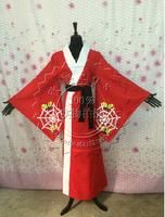 New Anime Black Butler Kuroshitsuji Red Kimono Alois Trancy Cosplay Costume