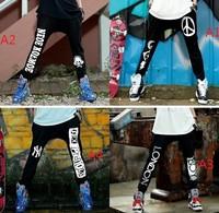 CQ-11 new 2014 Street dance 3 M Reflective Skeleton Casual fashion harem pants women sport plus size drop crotch pants skinny