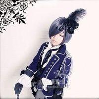 New Anime Black Butler Kuroshitsuji Ciel Phantomhive Cosplay Costume Party Knight Blue Version