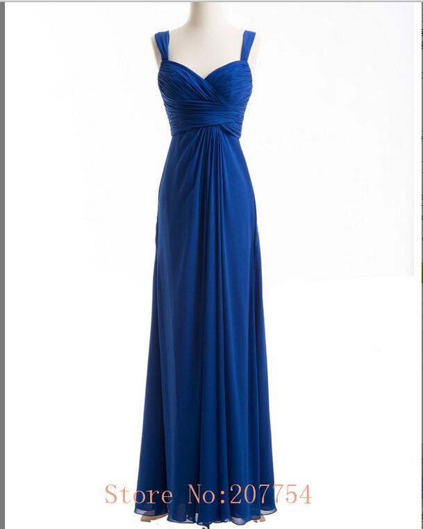 Blue Wedding Dress Simple : Elegant royal blue bridesmaid dress sweetheart simple sexy