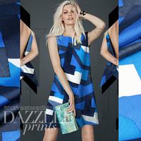 Hot Sell Fashion Geometry Print 100%Silk Habutai Fabric  112CM*100CM  8Mommie