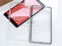Factory Cheap Hot Case Xiaomi Hongmi NOTE Crystal Transparent Acrylic Flip Plastic Case full-touch For Hongmi Redmi Note