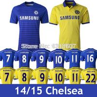 Chelsea 2015 Jersey Chelsea 14 15 Home Away yellow black jersey women Goalkeeper red Jersey Courtois FABREGAS DIEGO COSTA