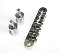 Tune-o-matic Bridge Set Fits Used For Les Pau Style Guitar - Chrome Color