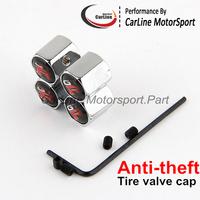 Car Chrome Anti-Theft Locking Tire Tyre Wheel Stem Air Valve Caps GTR Emblem Badge Car Wheel Cap 50sets mix car logo