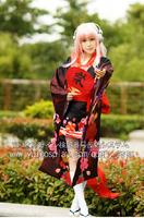 New Anime SUPERSONICO Gorgeous Kimono Cosplay Halloween Party Costume