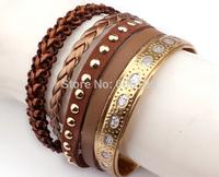 HB102 High Quality Fashion handmade New Style France popular Bracelets Brazilian Bohemia jewellery with magnetic clasp 6pcs/lot