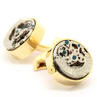Gold Kinetic Watch Movement Cufflinks 800994