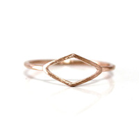 retail European and American Style pink unique rings Personality rhombus Ring for women $10free shipping