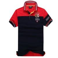 Top Quality Polo Men Casual Shirt Embroidery Aeronautica Militare Camisas Masculinas Polo Cotton Short Sleeve Shirts [K805