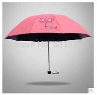 Free shipping Three-folding Rain/Sun Umbrella Folding Umbrella UV Protection Umbrella