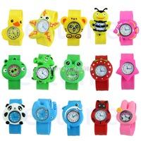 1pc Cute Cartoon Unisex Children Kid Sports Bendable Rubber Strap Quartz Wrist Watch