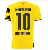 #10 MKHITARYAN  2015 DORTMUND jersey   thai quality 14 15 Borussia Dortmund home away soccer  dortmund jersey custom
