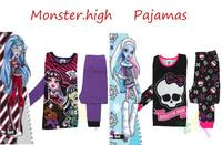Home Wear Baby Girls Roupa Infantil Monster.high High Pajama Pijamas Children Baby Suit Clothing Set Winx Kids Pajama Sets