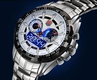5pcs 2014 Upgraded version Luminous TVG City Hunter Led Quartz  Fashion Sapphire Waterproof Dual Time Men Military Wrist watches
