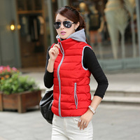 New arrival  2014  Free shipping  Lady Fashion Parkas Women slim  winter vest coat 901