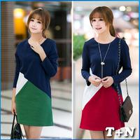 2014 new fashion assorted color dress brand dress casual ladies vestido