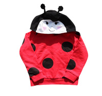 2014 New Arrival Toddler Boy/Girl's Red Ladybird Long-sleeve Autumn Hoodies & Sweatshirts for Children Animal Cosplay 3T-8T