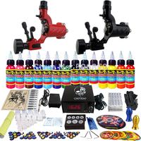 Complete Tattoo Kit 2 Pro Machine Guns 14 Inks Power Supply Needle Grips TK249