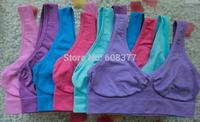 9 colors AHH BRA colorful seamless bra rose/pink/purple/blue/beige/white/black free choice 1000pcs/lot