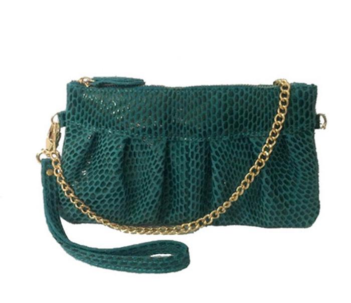 Bracelet en cuir véritable sac, de couleur bleu, peut être ordre mélangé, cinq couleurs