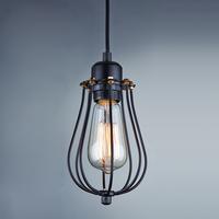 Minimalism Edison Hanging Light Black Wire Cage Lamp Pendant Light TN-D-1217D