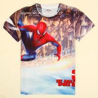 Nova Kids Cartoon tshirt spiderman printed summer t shirt Boy Short Sleeve cartoon Top C5151D#