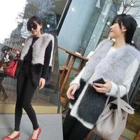 New Women Faux Fur Vest Jacket waistcoat Outerwear Short Winter Warm Blazer Coat For Free Shipping
