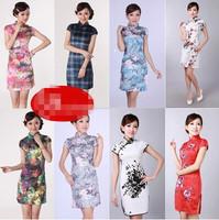 2014 summer vintage fashion one-piece dress formal dress,cotton Cheongsams dress,Women printed dresses,big yards /free shipping