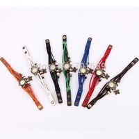 High Quality Women Genuine Leather Vintage Quartz Dress Watch Bracelet Wristwatches Butterfly 1000pcs can mix other types