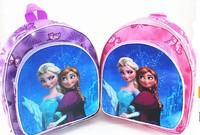 PROMOTION! Free shipping frozen anna&elsa print children school bag,cartoon kid's backpack,girls princess travel bag for 3-7Y