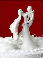 """""""Sweet Good Margin"""" Resin Craft Accessories Bride and Groom Wedding Cake Topper Free Shipping"""