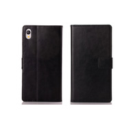 30pcs/lot Free Shipping 2 Card Slots Retro Book Leather Case with Stand for Sony Xperia Z2 D6503