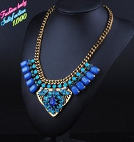 Fashion New design Alloy Statement Gem Crystal Bead Vintage Necklace Retro Luxury Good Quality Za Brand Collar Necklaces 2773