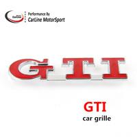 Metal Chrome GTI Car Grille Emblem Badge VW Tuning 3D Emblem Sticker Black/Red For VW Tiguan Passart Golf Sagitar Golf GTI