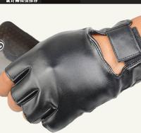 New male couple models outdoor climbing punk hip-hop performances man PU glove  mittens
