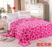 New style 150*200 grade ultra soft golden mink cashmere blankets / coral velvet / flannel sheets / black carpet rose red stone