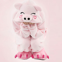 Adults Lovely Animal Onesies Costumes Pink Pig Animal Costume For Performance